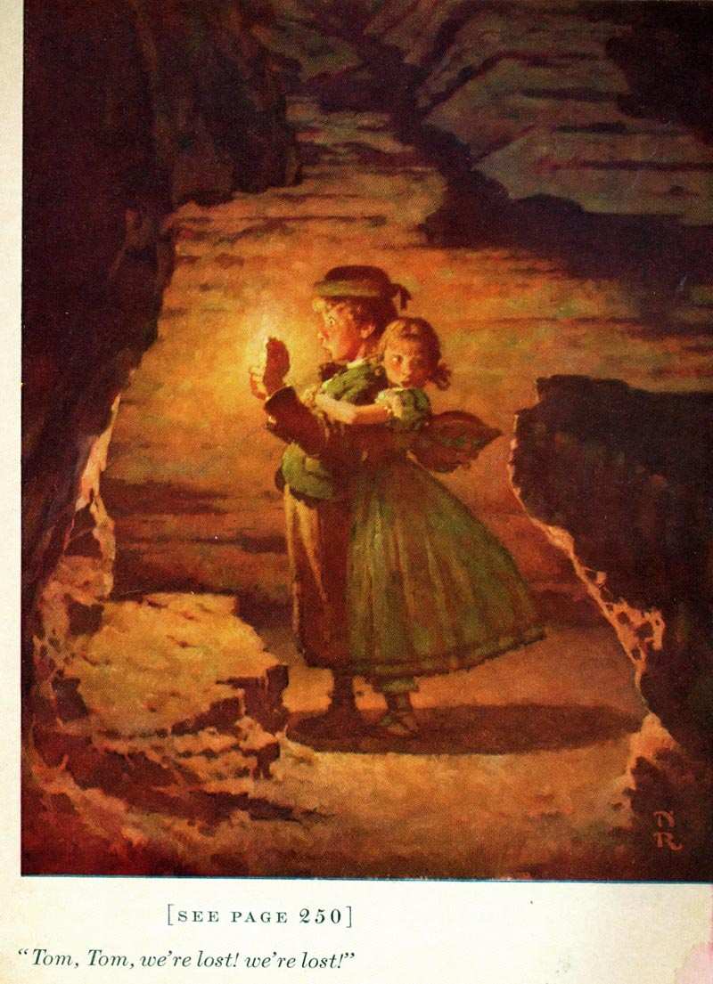 Картинка том и бекки в пещере